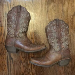 Ariat Women's Embroidered Leather Cowboy Boots